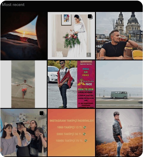 Most recent tab of an Instagram Hashtag before refresh