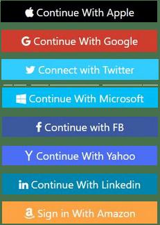 Login Via Social Media Platforms List