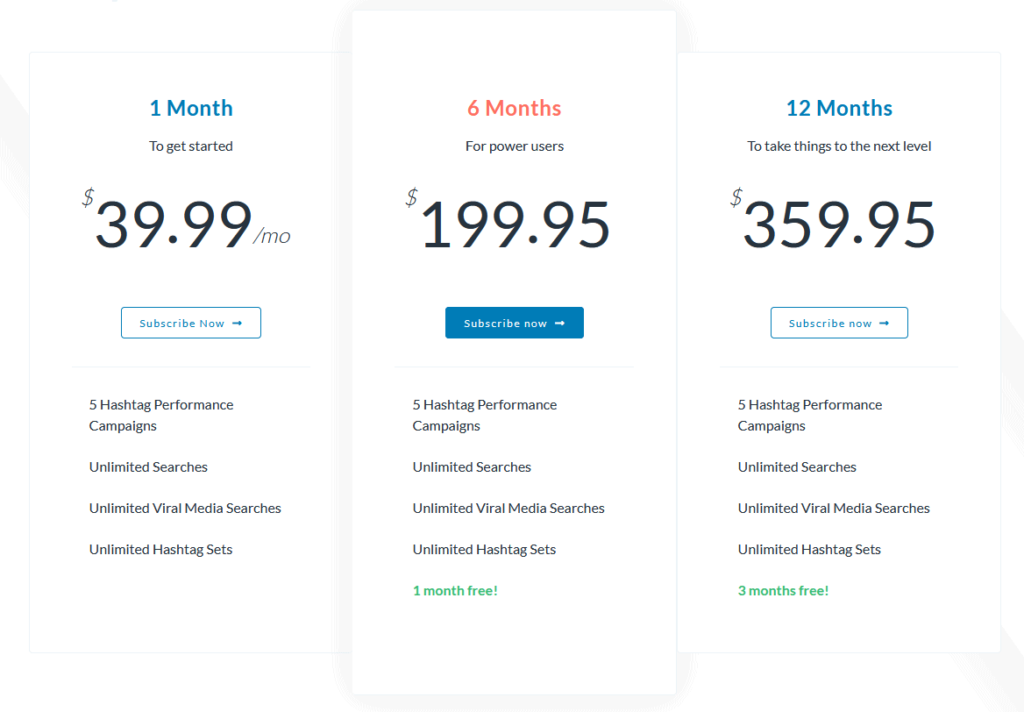 Hashtastic Enterprize Plans Pricing