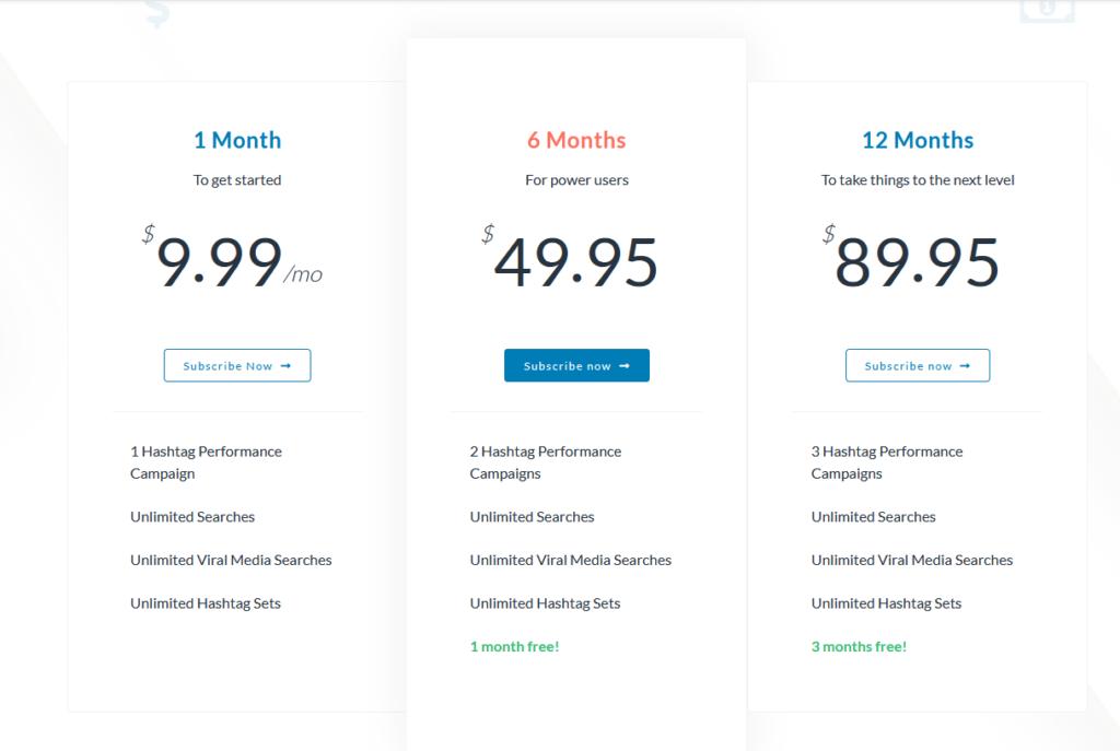 Hashtastic Personal Plan Pricing