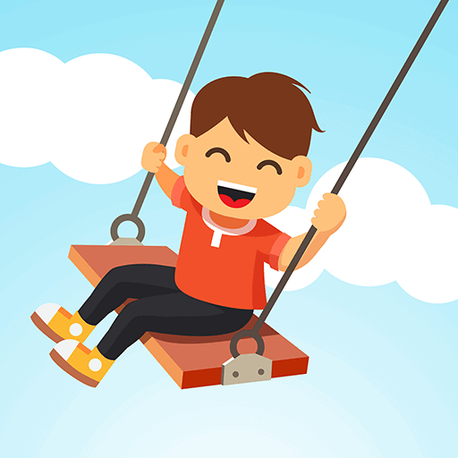 Happy boy swinging because he is happy with the legal bundles