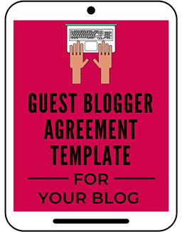 Guest Blogging Legal Agreement Template