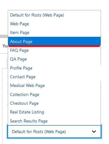 setting up an about page schema before starting a blog